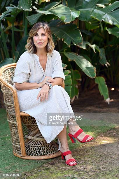 Michela Andreozzi attends the Press Conference during the Filming Italy Sardegna Festival 2020 on July 23 2020 in Cagliari Italy