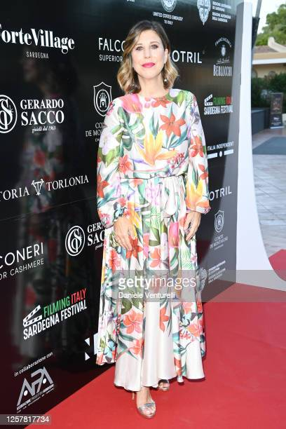 Michela Andreozzi attends the second day of Filming Italy Sardegna Festival 2020 at Forte Village Resort on July 23 2020 in Cagliari Italy