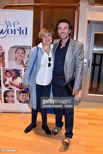 Michela Cescon and Alessio Boni attend 'Mothers L'amore che cambia il mondo' screening on September 29 2016 in Rome Italy