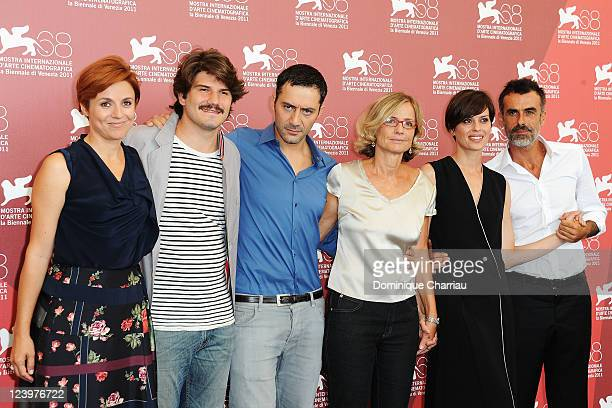 Michela Cescon Denis Fasolo Filippo Timi director Cristina Comencini Claudia Pandolfi and Thomas Trabacchi attend the Quando la notte Photocall...