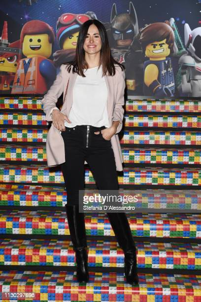 """Michela Coppa attends a photocall for """"The Lego Movie 2"""" at Odeon The Space on February 17, 2019 in Milan, Italy."""