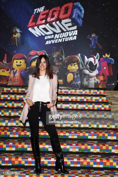 Michela Coppa attends a photocall for The Lego Movie 2 at Odeon The Space on February 17 2019 in Milan Italy