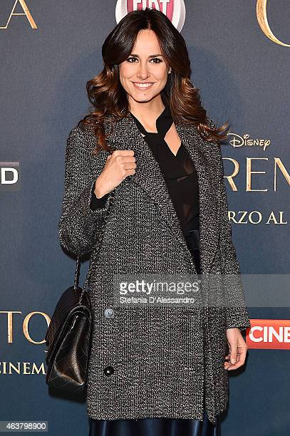 Michela Coppa attends Cinderella Screening held at Cinema Odeon on February 18 2015 in Milan Italy