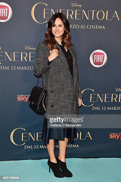"""Michela Coppa attends """"Cinderella"""" Screening held at Cinema Odeon on February 18, 2015 in Milan, Italy."""