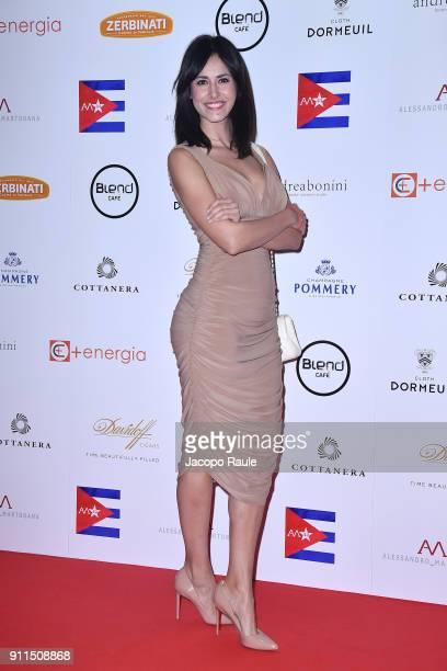 Michela Coppa attends the Alessandro Martorana Party on January 28 2018 in Milan Italy