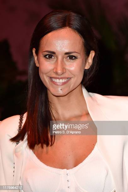 Michela Coppa attends the Luisa Spagnoli fashion show during the Milan Fashion Week Spring/Summer 2020 on September 20 2019 in Milan Italy