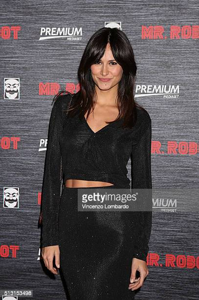 Michela Coppa attends the 'Mr. Robot' Tv Show Photocall on February 29, 2016 in Milan, Italy.