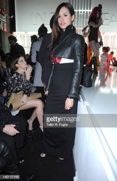 Michela Coppa attends the Philipp Plein fashion show as part of Milan Womenswear Fashion Week on February 25, 2012 in Milan, Italy.