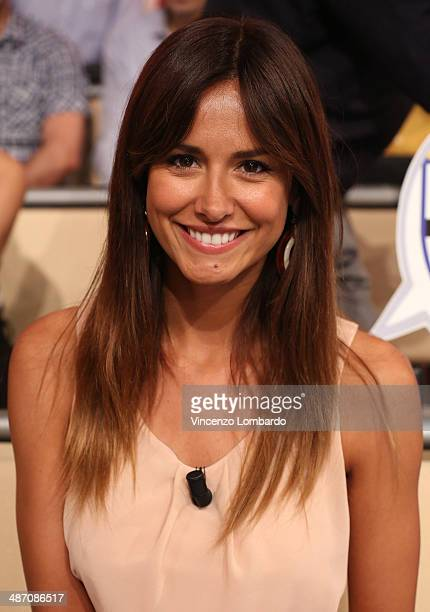 Michela Coppa attends the 'Quelli che il Calcio' TV Show on April 27, 2014 in Milan, Italy.