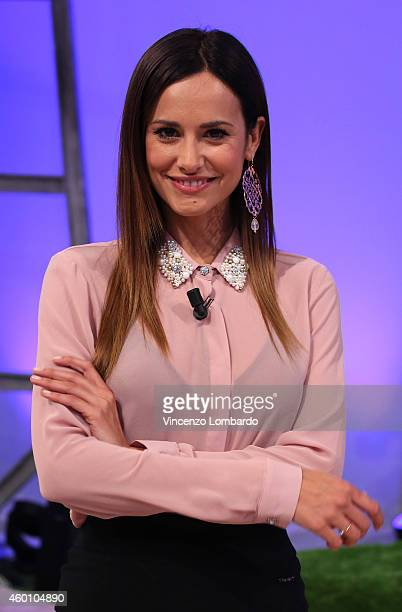 Michela Coppa attends the 'Quelli Che Il Calcio' TV show on December 7 2014 in Milan Italy