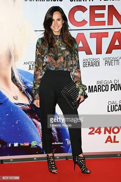 Michela Coppa walks a red carpet for 'La Cena Di Natale' at Cinema Adriano on November 22 2016 in Rome Italy