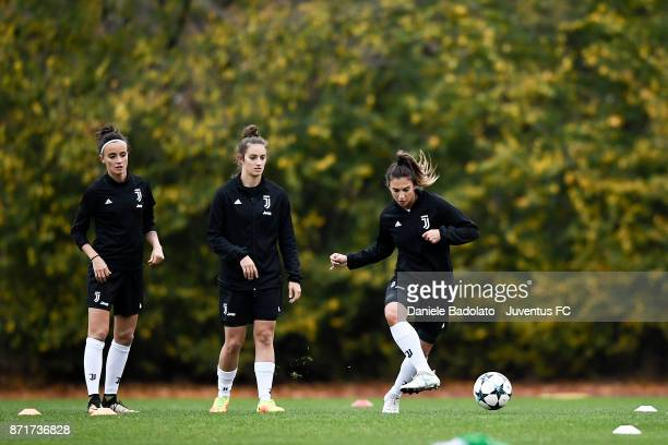 Michela Franco in action during the Juventus women training session on November 8 2017 in Turin Italy