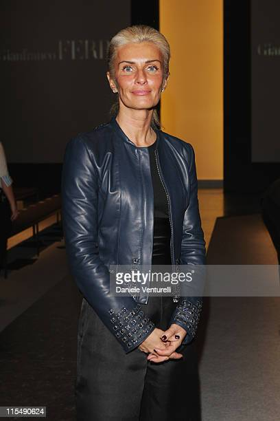 Michela Piva attends the Gianfranco Ferre fashion show as part of Milan Fashion Week Autumn/Winter 2008/09 on February 18, 2008 in Milan, Italy.