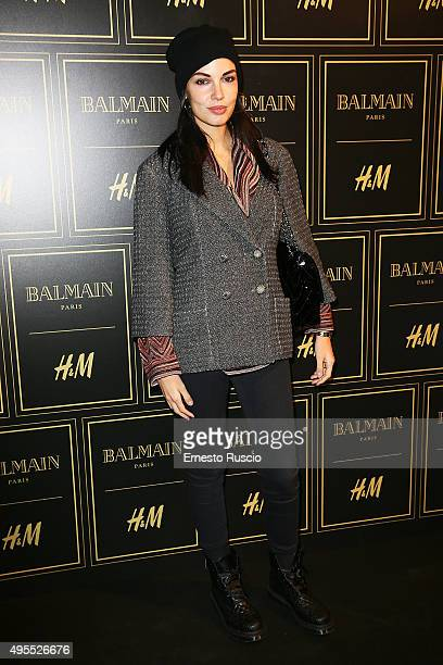 Michela Quattrociocche attends Balmain For HM Collection Preview Photocall on November 3 2015 in Rome Italy