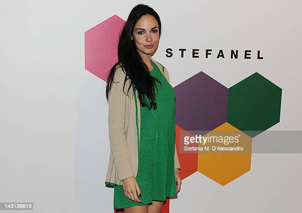 Michela Quattrociocche attends 'May I introduce you Volume 2' Cocktail Party at Museo della Scienza e della Tecnica on April 19 2012 in Milan Italy