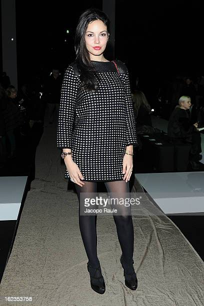 Michela Quattrociocche attends the Iceberg show during Milan Fashion Week Womenswear Fall/Winter 2013/14 on February 22 2013 in Milan Italy