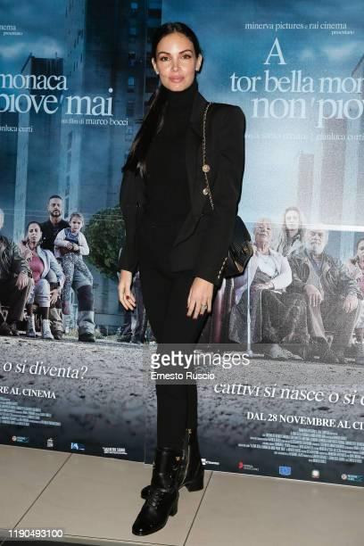 Michela Quattrociocche attends the photocall of the movie A Tor Bella Monaca non piove mai at Cinema Adriano on November 27 2019 in Rome Italy
