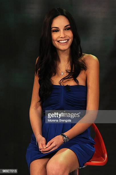 Michela Quattrociocche during the Italian TV show Quelli Che il Calcio on February 21 2010 in Milan Italy