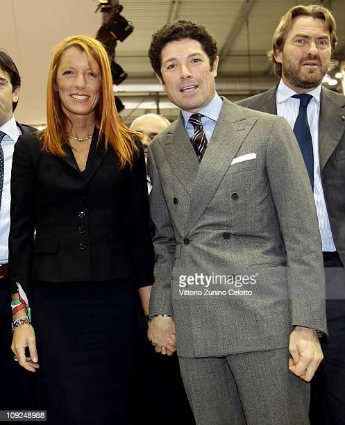 Michela Vittoria Brambilla and Matteo Marzotto attend the 2011 BIT International Tourism Exchange held at Fieramilano on February 17, 2011 in Milan,...