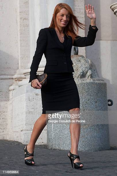 Michela Vittoria Brambilla arrives at the Quirinale Palace to attend the Annual Party hosted by Italy's President Giorgio Napolitano on May 31 2011...