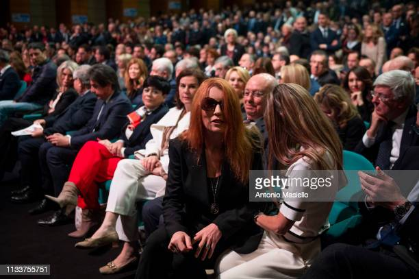 Michela Vittoria Brambilla attends a meeting of centreright political party Forza Italia on March 30 2019 in Rome Italy The meeting was organized to...