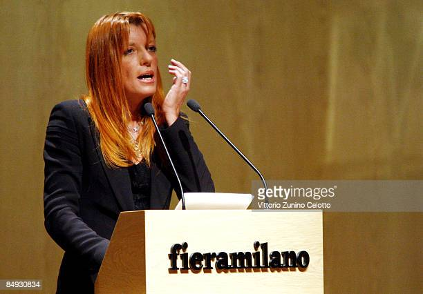 Michela Vittoria Brambilla attends the Opening Conference of Bit 2009 International Tourism Exchange Fair on February 19 2009 in Milan Italy The Bit...
