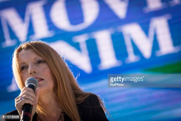 Michela Vittoria Brambilla during an Animal Movement Demonstration in Rome Italy on July 08 The animal movement founded by Michela Vittoria Brambilla...