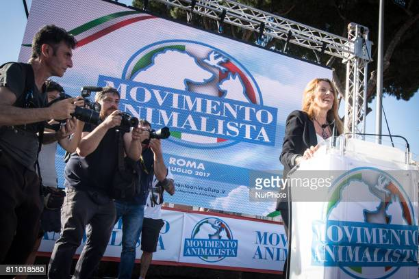 Michela Vittoria Brambilla during an Animal Movement Demonstration in Rome, Italy, on July 08. The animal movement ,founded by Michela Vittoria...