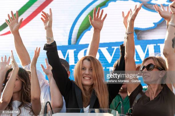 Michela Vittoria Brambilla joins members of the national animal rights movement demonstrate on July 8, 2017 in Rome, Italy. The movement seeks to end...
