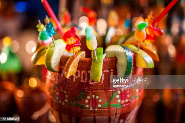 michelada tepoztlán style - mexican fiesta stock pictures, royalty-free photos & images