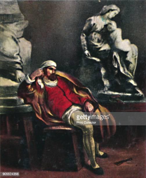 'Michelangelo 14751564 1934 Portrait of Michelangelo Italian Renaissance sculptor painter architect and poet From Die Großen der Weltgelchichte...