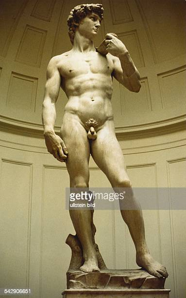 Michelangelo 1475-1564 / Bildhauer, Maler, Baumeister, Dichter: WerkeStatue 'David' für die Piazza della Signoria in Florenz. Heutiger Standort:...