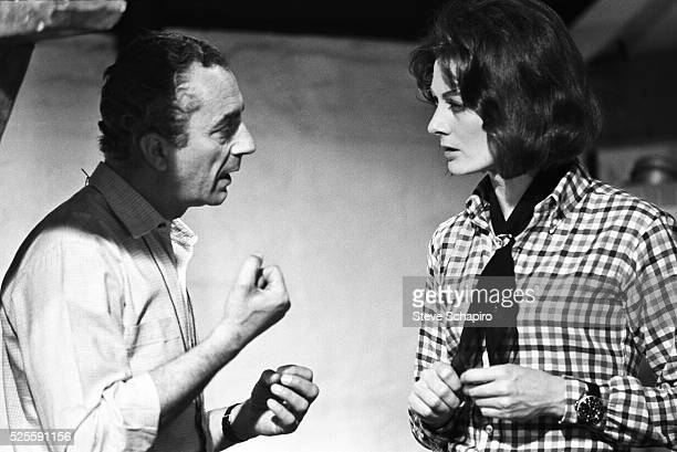 Michelangelo Antonioni and Vanessa Redgrave rehearsing a scene for Blow Up