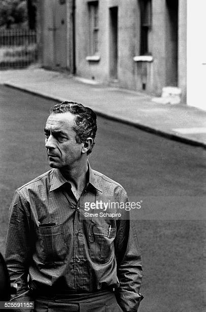 Michelangelo Antonioni during filming of Blow Up