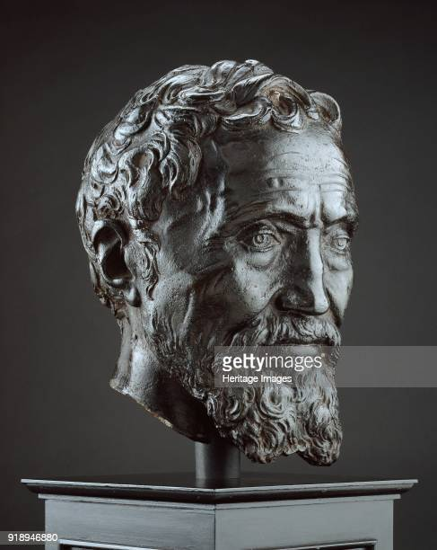 Michelangelo Buonarroti circa 15601566 Dimensions height lowest part of neck to top head 28 cmdiameter socle 20 cmheight socle to lowerst part of...