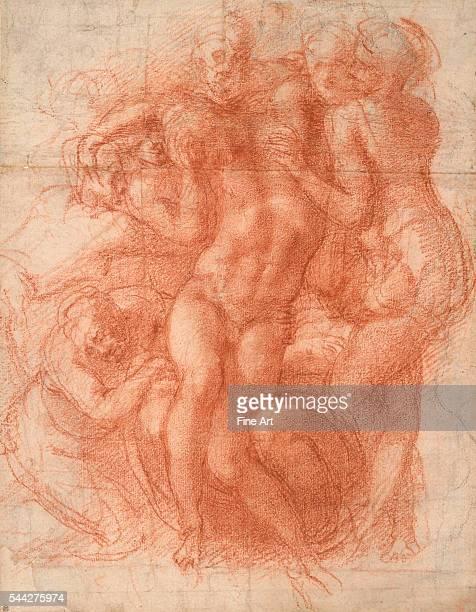 Michelangelo Buonarroti Study for a Lamentation c 1530 red chalk on paper Albertina Museum Vienna Austria