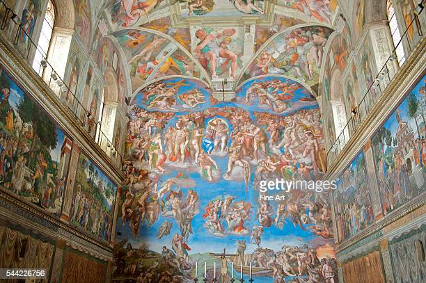 Michelangelo Last Judgment fresco from the Sistine Chapel postrestoration Vatican City Rome
