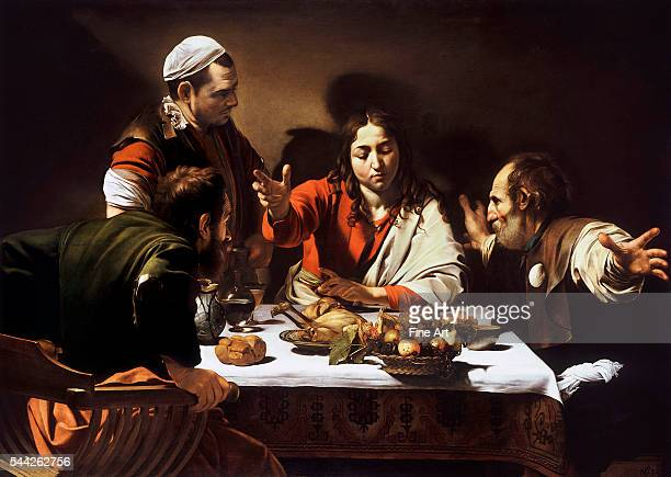 Michelangelo Merisi da Caravaggio Supper at Emmaus oil on canvas 141 x 1962 cm National Gallery London