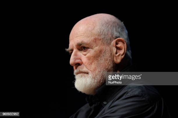 Michelangelo Olivero Pistoletto Italian artist painter and sculptor animator and protagonist of the current of poor art during the conference for the...