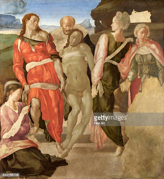 Michelangelo , The Entombment, c. 1500-1, oil on wood, 161.7 x 149.9 cm, National Gallery, London.