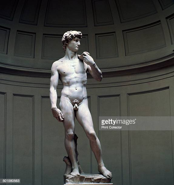 Michelangelo's David at the Galleria dell'Accademia in Florence 16th century