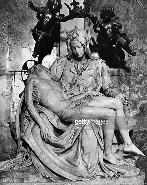 Michelangelo's Pieta Rome Basilica of St Peter Undated photograph