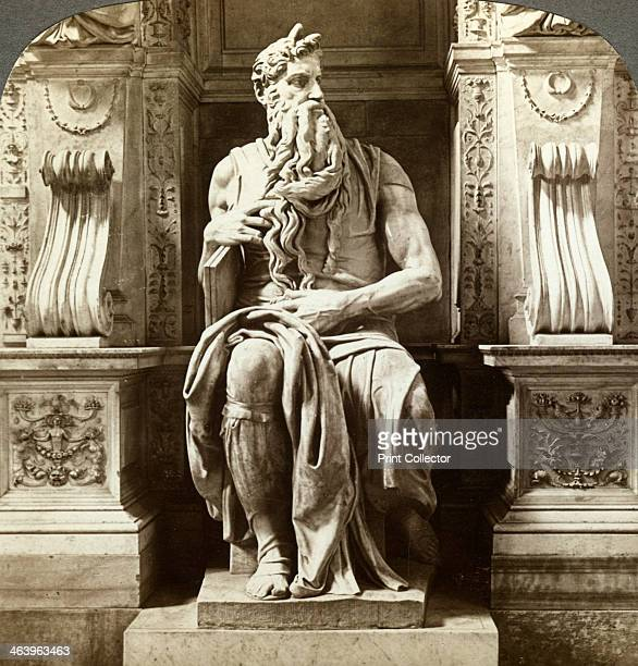 Michelangelo's statue of Moses Church of San Pietro in Vincoli Rome Italy This statue was intended to be the central feature of the tomb of Pope...
