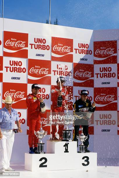 Michele Alboreto Alain Prost Elio de Angelis Grand Prix of Brazil Autodromo Internacional Nelson Piquet April 7 1985