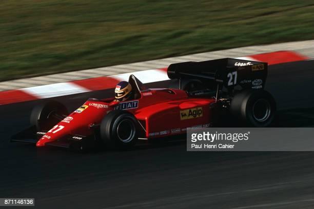 Michele Alboreto, Ferrari 126C4, Grand Prix of Europe, Nurburgring, 07 October 1984.