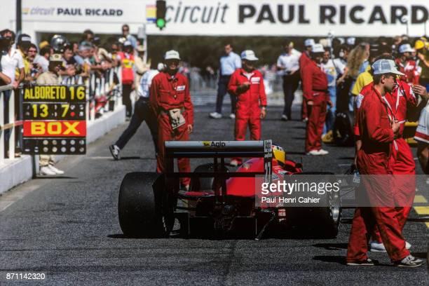 Michele Alboreto Ferrari F1/87/88C Grand Prix of France Circuit Paul Ricard 03 July 1988