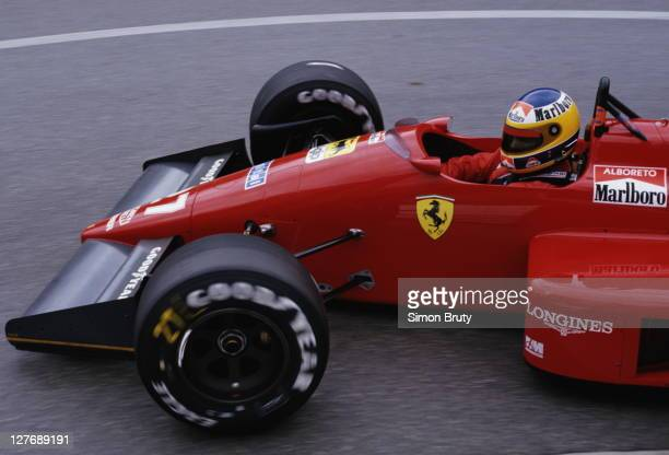 Michele Alboreto of Italy drives the Scuderia Ferrari SpA SEFAC Ferrari F187 during the Grand Prix of Monaco on 31st May 1987 on the streets of the...