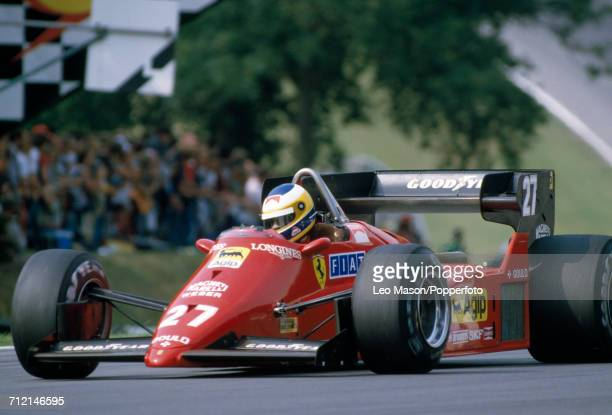 Michele Alboreto of Italy enroute to a fifth place finish driving a Ferrari 126C4 with a Ferrari 031 15 V6t engine for Team Scuderia Ferrari SpA...