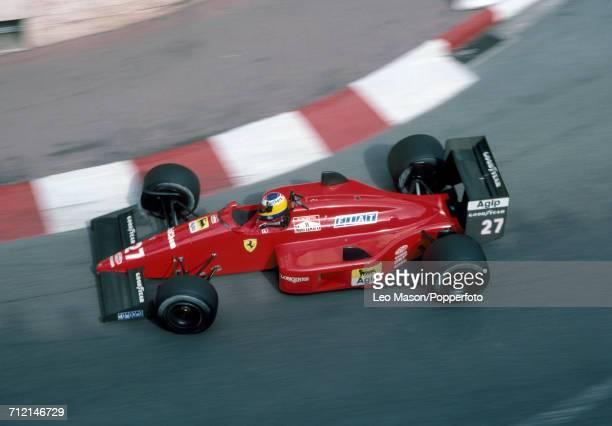 Michele Alboreto of Italy enroute to a third place finish driving a Ferrari F1/87/88C with a Ferrari 033 15 V6t engine for Team Scuderia Ferrari SpA...