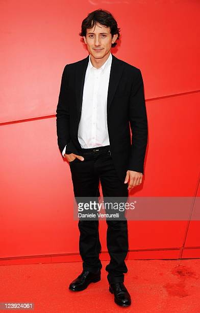 Michele Alhaique attends the Qualche Nuvola Premiere during the 68th Venice International Film Festival at Palazzo del Casino on September 6 2011 in...